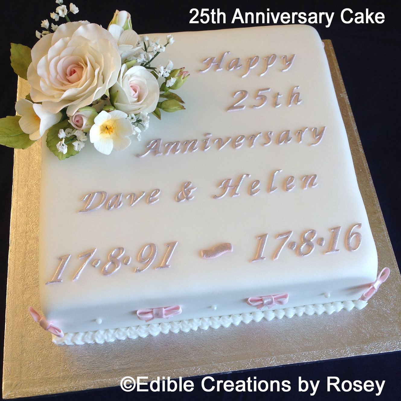 Anniversary Day Cake Images : Reviews on Edible Creations by Rosey