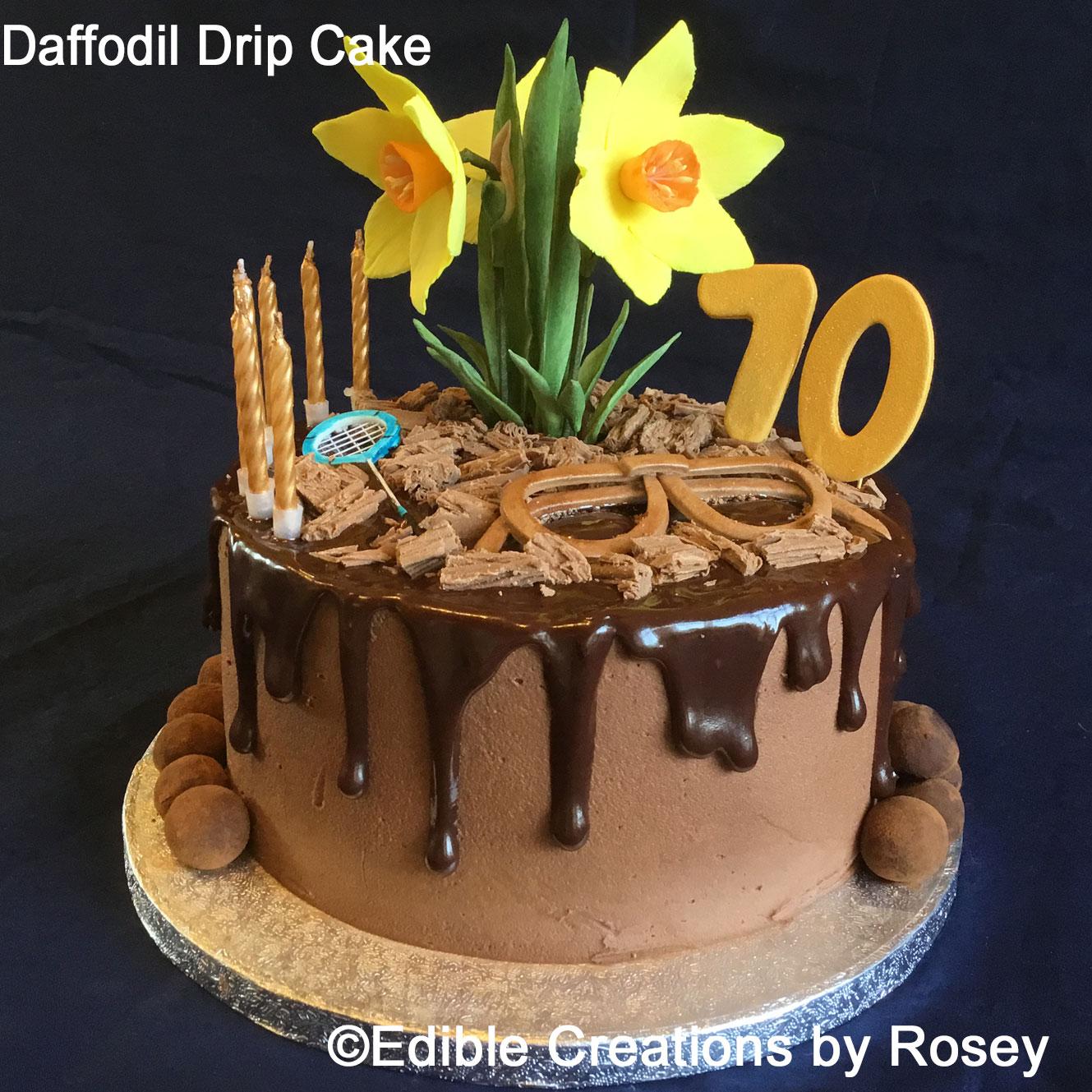 Daffodil Drip Cake
