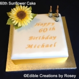 60th Sunflower Cake