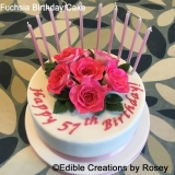 Fuchsia Birthday Cake