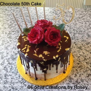 Chocolate 50th Birthday Cake