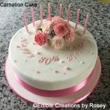 80th Birthday Carnation Cake