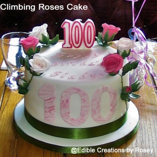 100th Birthday Climbing Roses Cake