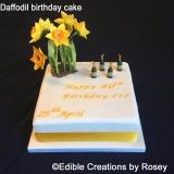 Daffodil Birthday Cake