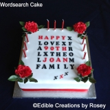 Wordsearch Cake