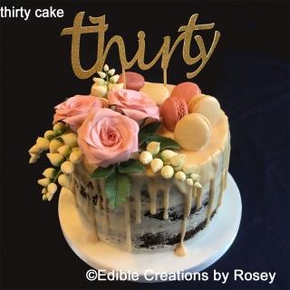 thirty cake