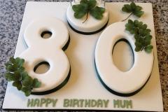 80 Shamrock Cake