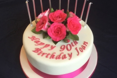 90th Rose Birthday Cake