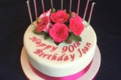 90th Rose Birthday Cake