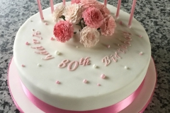 80th Birthday Carnation Cake