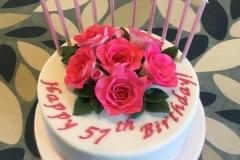 Fuchsia Birthday Cake