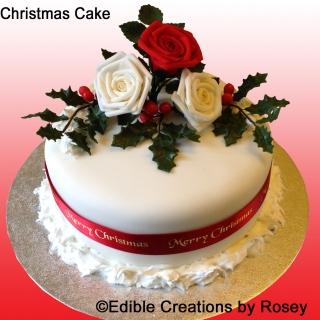 Christmas cake - Roses