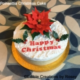 Poinsettia Christmas Cake