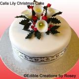 Christmas cake - calla lily
