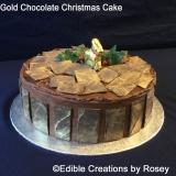 Gold Chocolate Christmas Cake