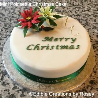 Mini Poinsettia Christmas Cake