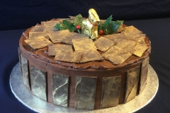 Gold Chocolate Christmas Cake