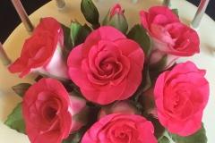Fuchsia-coloured roses