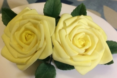 Yellow Curled Roses