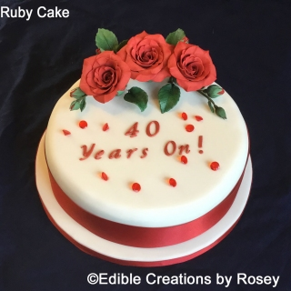 Ruby 40th Anniversary Cake