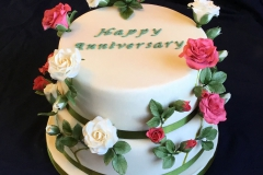 Climbing Roses Two Tier Cake