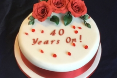 Ruby 40th Anniversary Cake