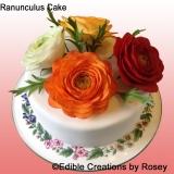 Ranunculus-Cake
