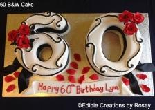 60 B&W Cake