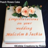Peach Roses Cake