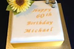 60th Sunflower Cake
