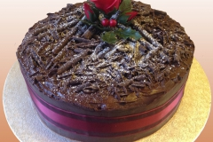 Christmas Cake - Chocolate and Rose