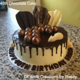 40th Chocolate Cake