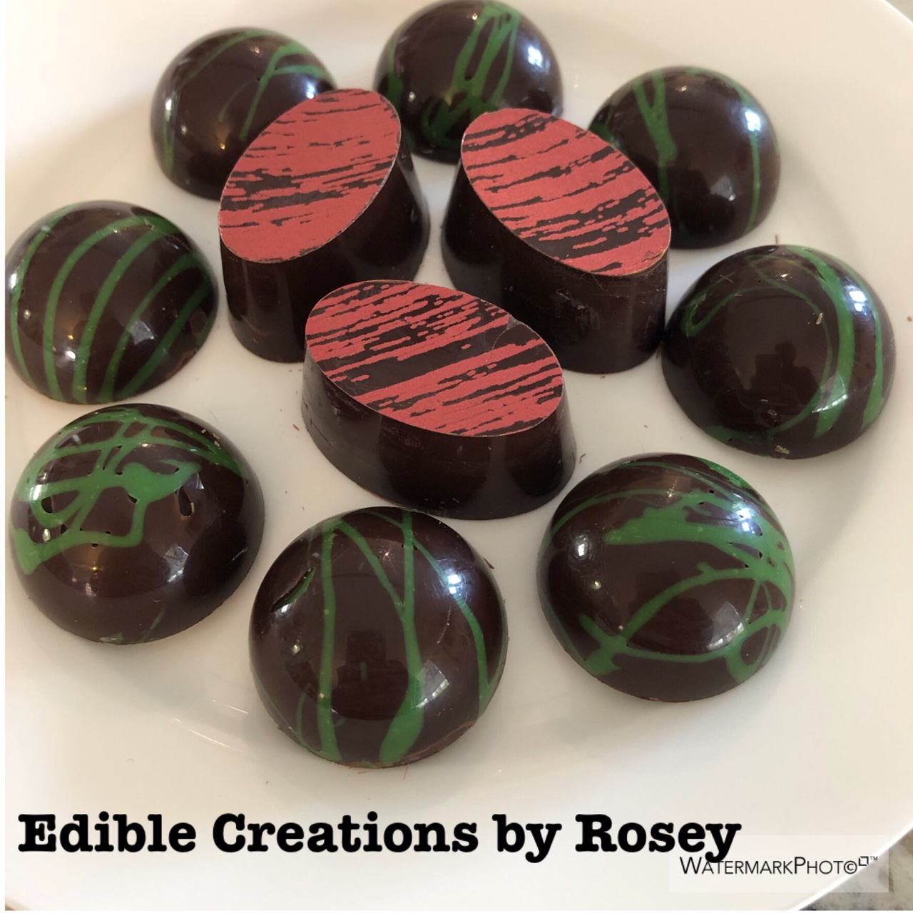 Lime and salted caramel chocolates