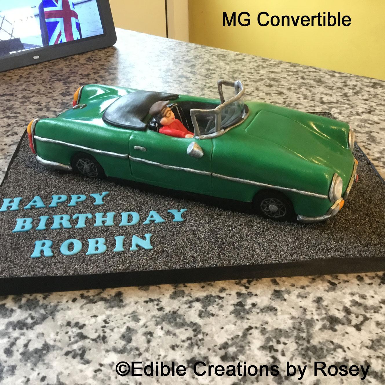 MG Convertible Car Cake
