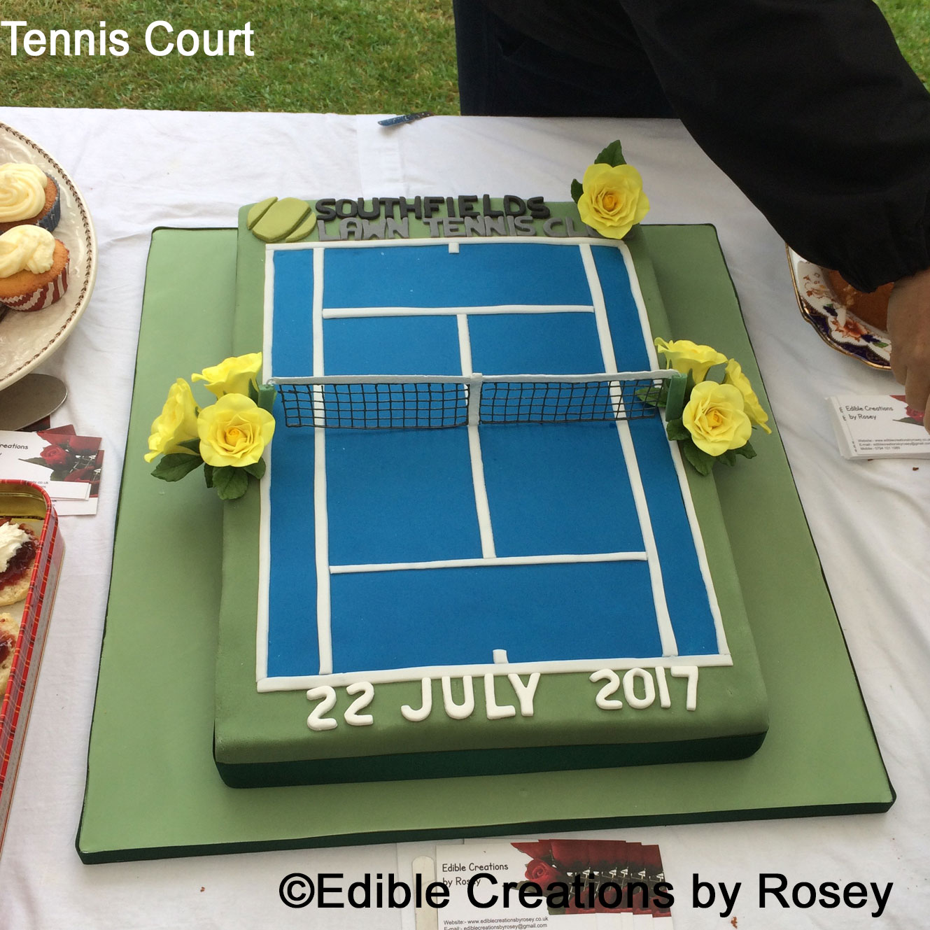 How To Make A Tennis Court Birthday Cake