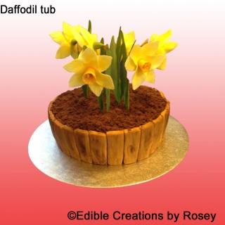 Daffodil Tub Cake