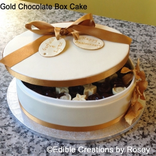 Gold Chocolate Box