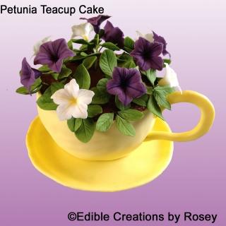 Petunia Teacup Cake