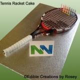 Tennis Racket Cake