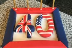 US UK 40 Cake