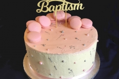 Macaron Baptism Cake