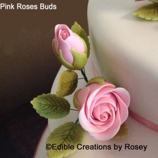 Sugarpaste Pink Rose Buds