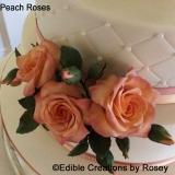 Peach Sugarpaste Roses