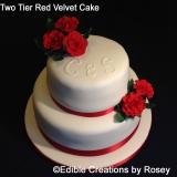 Two Tier Red Velvet Wedding Cake
