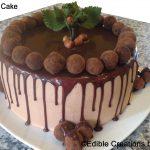 cake, truffles, hazelnut
